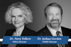 Directors Dr. Nora Volkow (NIDA) and Dr. Joshua Gordon (NIMH)